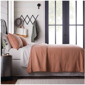 Hearth & Hand Solid Cotton Quilt in Copper King